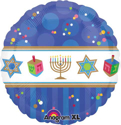 "Picture of 18"" Hanukkah Celebrations Foil Balloon (1pc)"