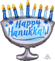 "Picture of Happy Hanukkah Menorah Foil Balloon - 29"" (1pc)"