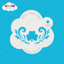 Picture of Three-Leaf Clover (Shamrock) with Swirls - Dream Stencil - 103