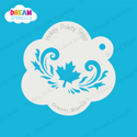 Picture of Maple Leaf With Swirls  - Dream Stencil - 128