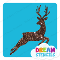 Picture of Elegant Deer Glitter Tattoo Stencil - HP-213 (5pc pack)