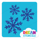 Picture of Snowflake Cluster Glitter Tattoo Stencil - HP-245 (5pc pack)