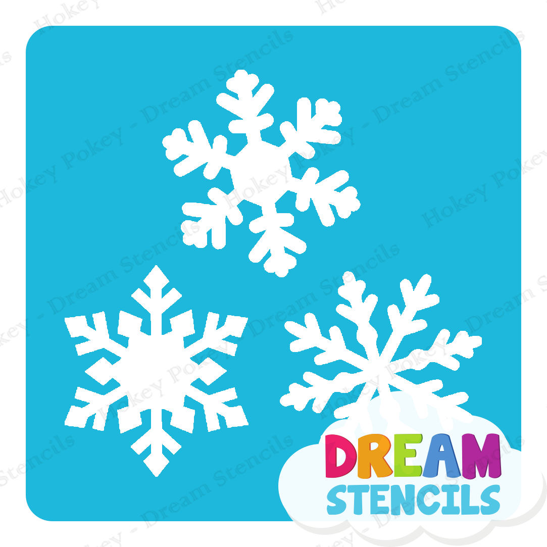 Picture of Snowflake Trio Glitter Tattoo Stencil - HP-246 (5pc pack)