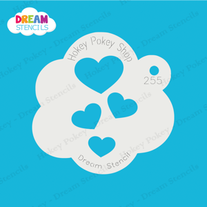 Picture of Cascading Hearts  - Dream Stencil - 255