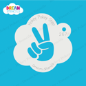Picture of Finger Peace Sign - Dream Stencil - 267