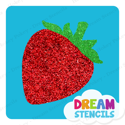 Picture of Strawberry Glitter Tattoo Stencil - HP-282 (5pc pack)