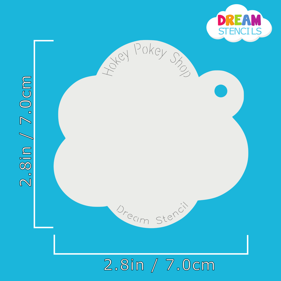 Picture of Astra Flower - Dream Mylar Stencil - 309