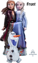 "Picture of Frozen 2 Elsa Anna Olaf  AirWalker Balloon (27""X 58'')"